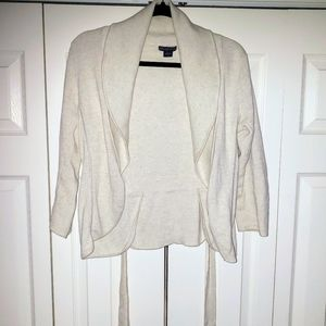 Armani Exchange Oatmeal Cream Wrap Sweater